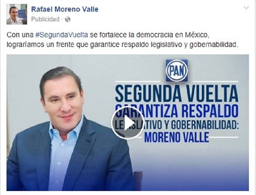 Moreno Valle, a favor de un frente opositor